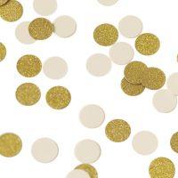Pöytäkonfetti kulta ja valkoinen