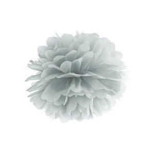 Pompom hopeanharmaa 25 cm