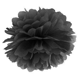 Pompom musta 35 cm