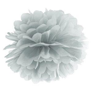 Pompon hopeanharmaa 35 cm