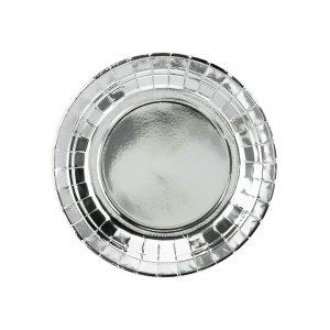 Hopeanhohtavat lautaset 18 cm