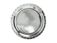 Hopeanhohtavat lautaset 23 cm