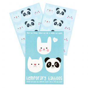 Panda ja kamut tatuoinnit