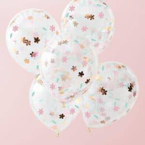 Ilmapallot kukkakonfetti