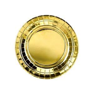 Pahvilautanen kulta 18 cm