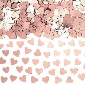 Ruusukultaiset sydänkonfetit