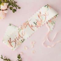 Team Bride Floral Bride to be olkanauha