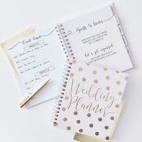 Wedding planner kulta polka dot