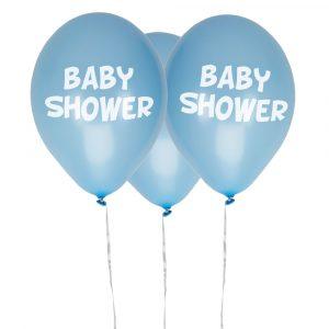 Baby shower siniset ilmapallot