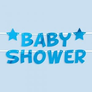 Baby shower viirinauha sininen