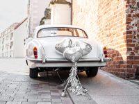 Hääauton koristelusetti hopea