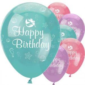 Happy Birthday merenneitoilmapallot