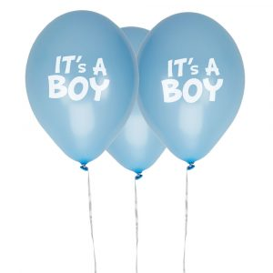 It's a boy siniset ilmapallot