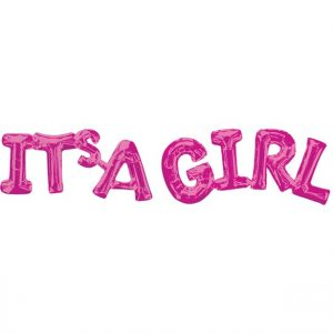 Its a girl pinkki foliopallo