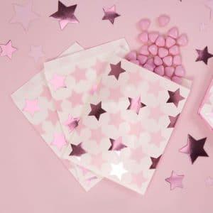 Paperipussit pinkki pikkutähti
