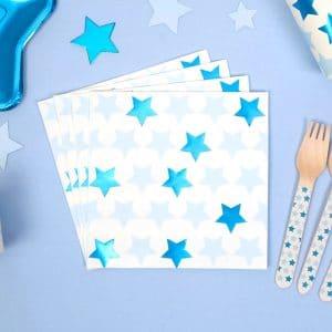 Sininen pikkutähti lautasliinat