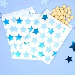 Sininen pikkutähti paperipussit