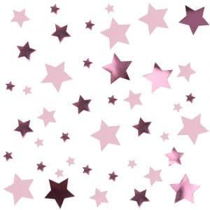 Tähtikonfetit pinkki pikkutähti