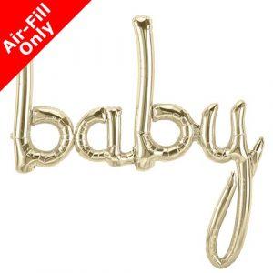 Valkokultainen baby foliopallo