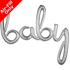 baby ilmatäytteinen foliopallo hopea