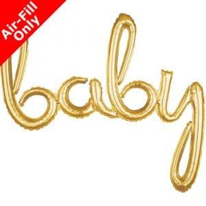 baby ilmatäytteinen foliopallo kulta