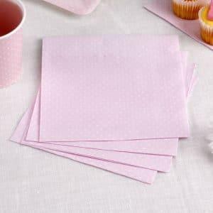 Lautasliinat vaaleanpunainen polka dot