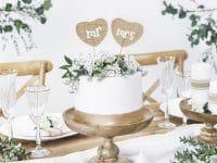 Mr Mrs juuttisydämet kakkukoriste