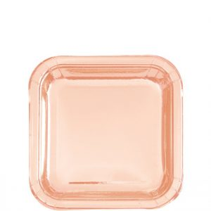 Ruusukulta pienet lautaset neliö