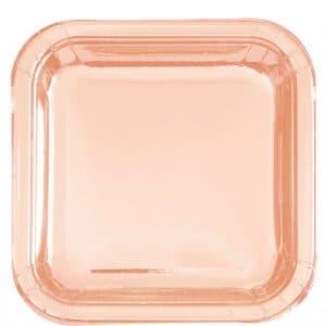Ruusukultaiset isot lautaset