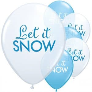 Let it snow ilmapallot