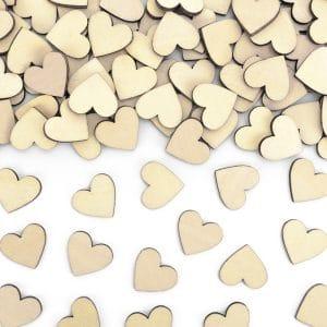 Puukonfetit sydän