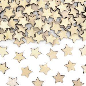 Puukonfetit tähti