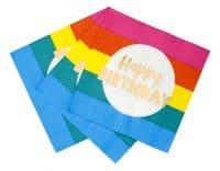 Rainbow happy birthday lautasliinat