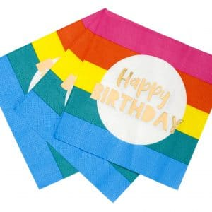 Rainbow happy birthday lautasliinat