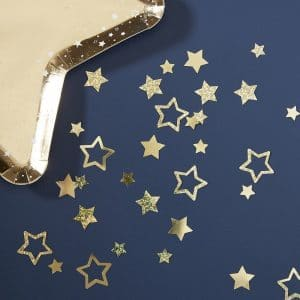 Kullanväriset tähtikonfetit