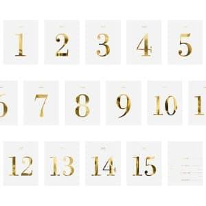 Pöytänumerotarrat