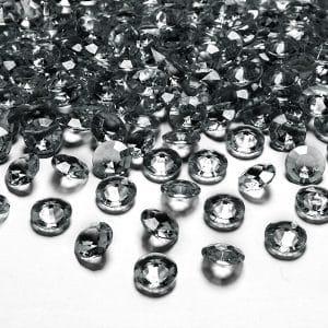Timanttikonfetit 12 mm harmaa