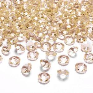 Timanttikonfetit 12 mm kulta