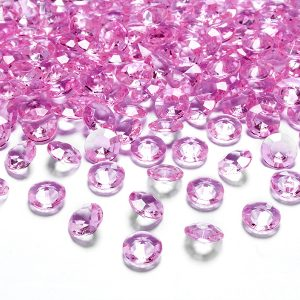 Timanttikonfetit 12 mm pinkki