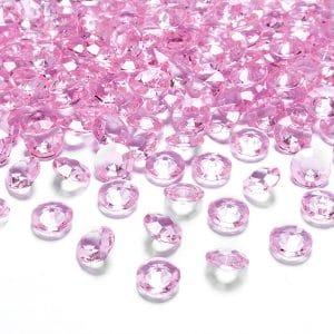 Timanttikonfetit 12 mm vaaleanpunainen