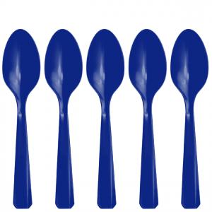 Siniset muovilusikat