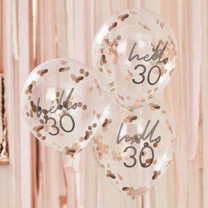 Hello 30 konfettipallot