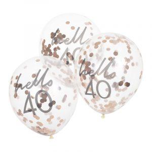 Hello 40 konfettipallot