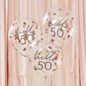 Hello 50 konfettipallot