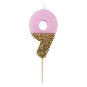 Kakkukynttilä pinkki 9