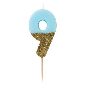 Kakkukynttilä sininen 9