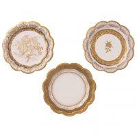 Koristekuvioidut lautaset kulta