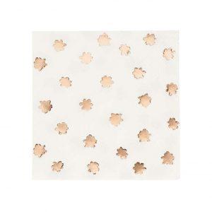 Ruusukultakuvoidut servetit