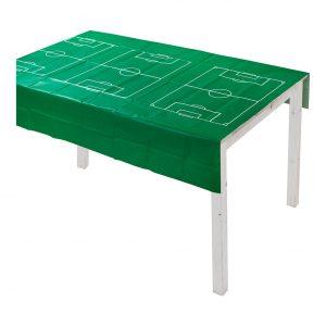 Vihreä pelikenttä muovipöytäliina