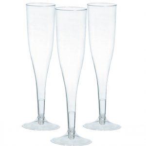 Kirkkaat shampanjalasit